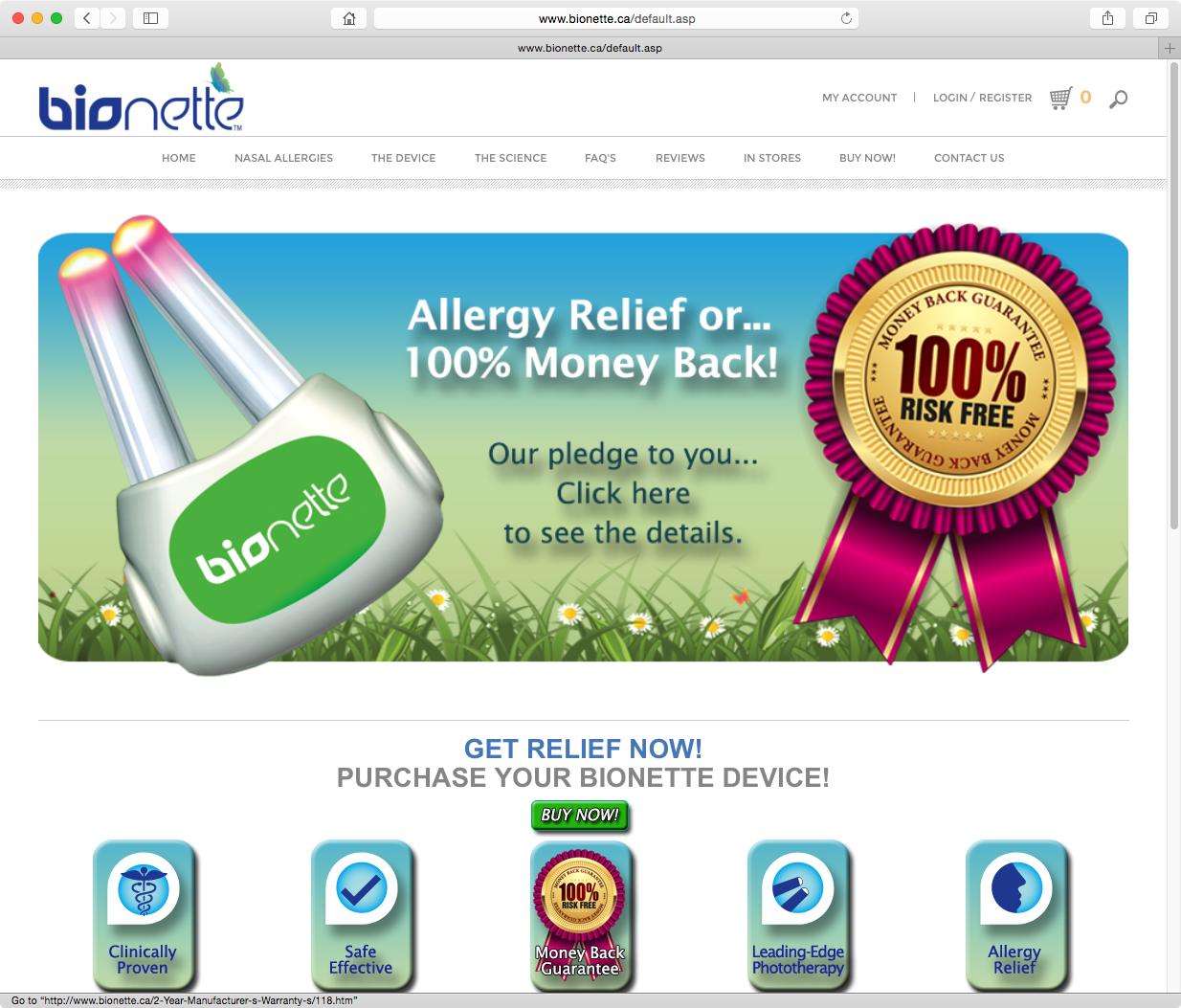 Bionette website