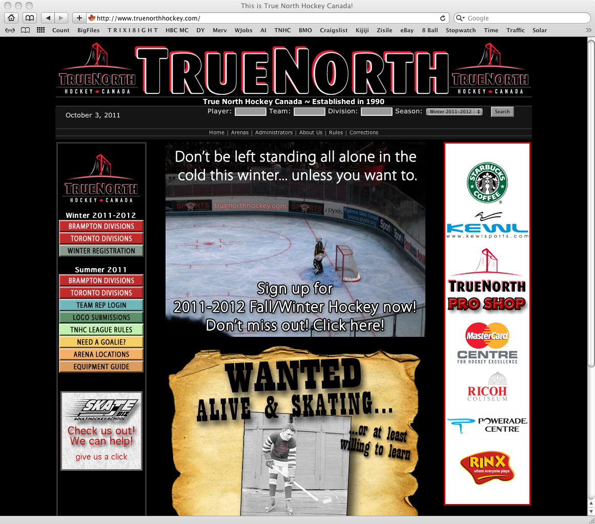 True North Hockey Canada - Website